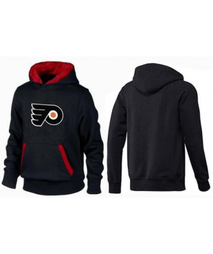 Men's Philadelphia Flyers Big And Tall Logo Pullover Hoodie - Black/Red