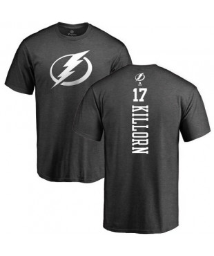 Tampa Bay Lightning 17 Alex Killorn Charcoal One Color Backer T-Shirt