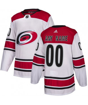 Personalized Men's Carolina Hurricanes Authentic White Away Jersey