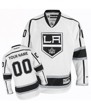 Personalized Men's Los Angeles Kings Authentic White Away Jersey